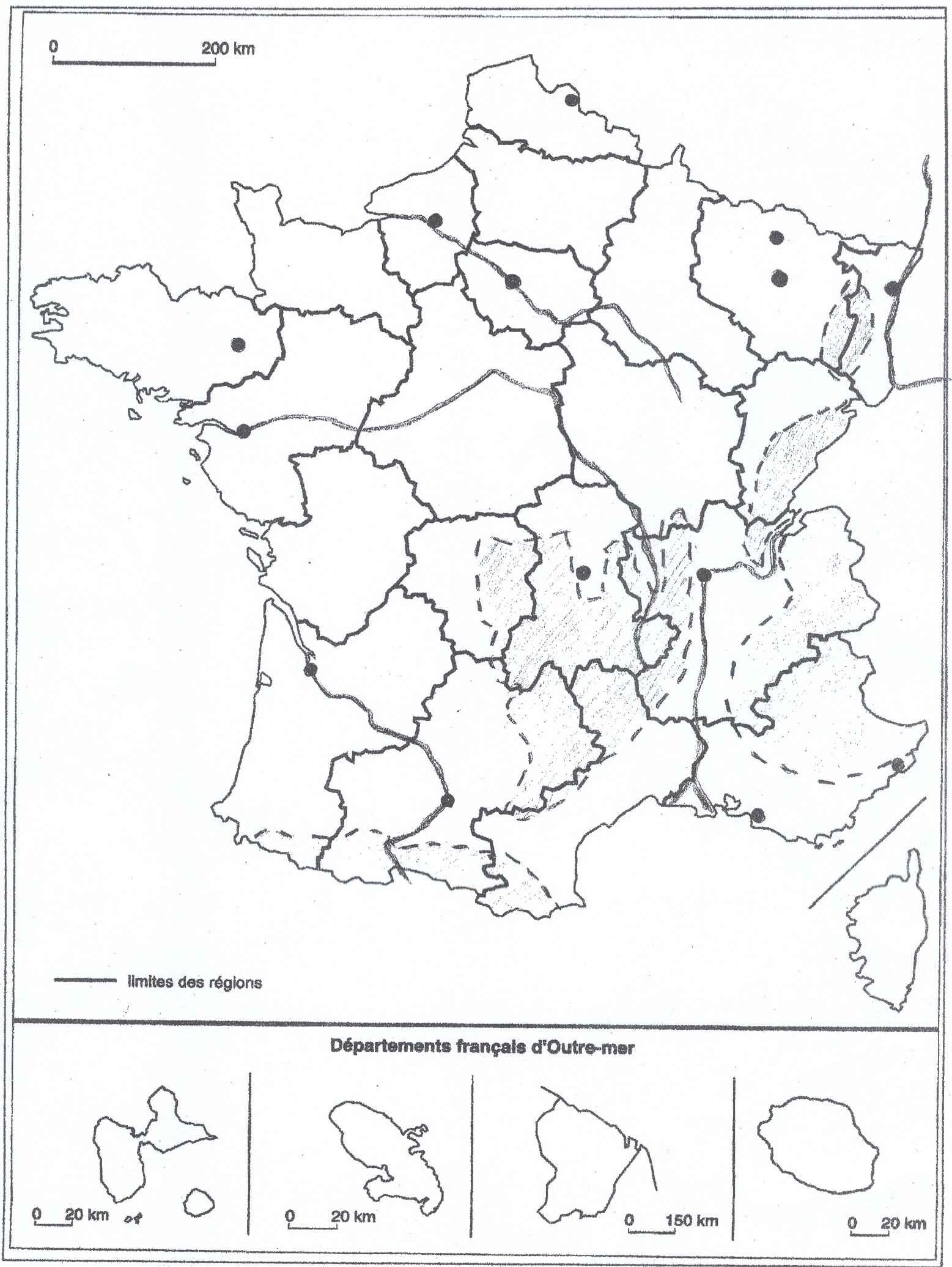 carte de france brevet 3eme
